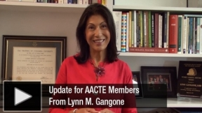 Lynn M. Gangone about AACTE Renewal Searson 2018-19