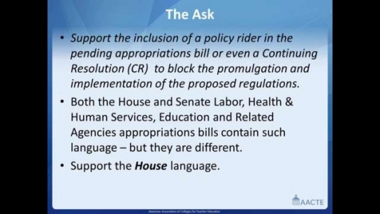 The Power of the Constituent Voice - Your Continued Effort on the Pending Regulations on TeacherPrep Programs