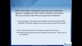 Webinar: Engaging With States to Inform Principal and Supervisor Preparation