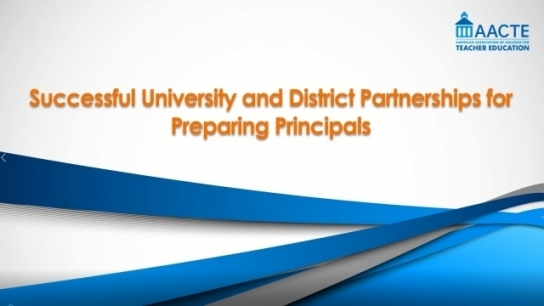 Successful University and District Partnerships for...