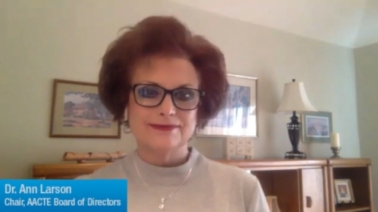Ann Larson Discusses AACTE's Virtual Annual Meeting
